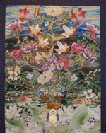 The Flowering Of The Buddha Mind, Fabric Collage, 5' x 4', 2010